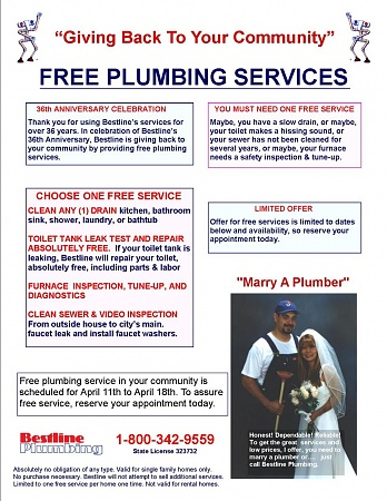 Plumbing Marketing Flyer - Proven Success